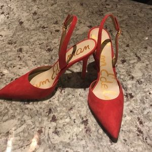 NEW Red Sam Edelman heels
